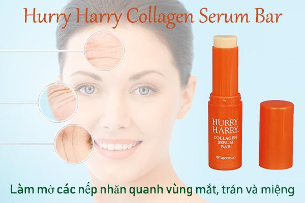 Hurry Harry Collagen Serum Bar giúp làm mờ nếp nhăn