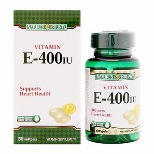 Nature's Bounty Vitamin E 400IU 30 viên nhập khẩu từ Mỹ