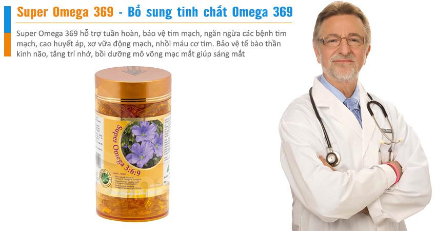 Super Omega 369 hỗ trợ tuần hoàn, bảo vệ tim mạch, ngăn ngừa các bệnh tim mạch