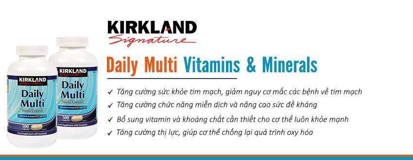 Công dụng Viên uống KirkLand Daily Multi
