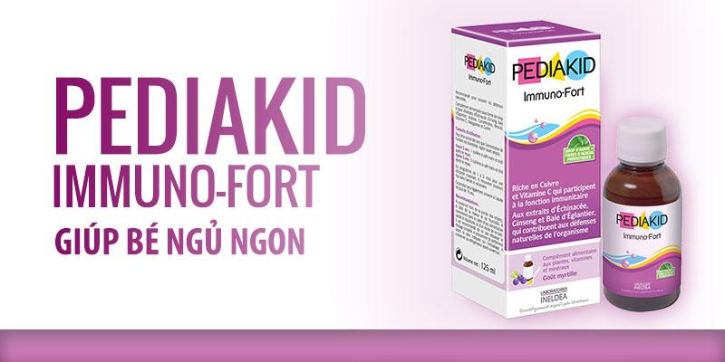 Pedia Kid Immuno Fort giúp bé ngủ ngon