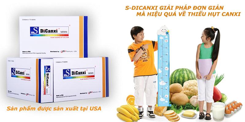 S-DiCanxi thực phẩm chức năng giúp bổ sung canxi hiệu quả