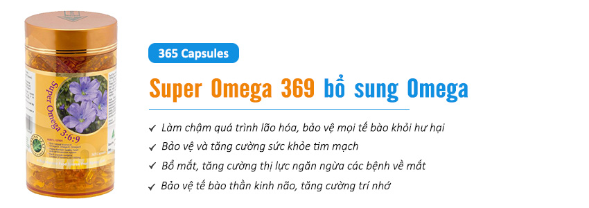 Công dụng viên uống Super Omega 369