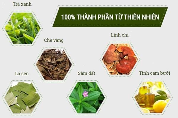 Trà Vy&Tea với thành phần thiên nhiên đảm bảo an toàn, không tác dụng phụ